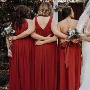 976912f4b89 Azazie Dresses - Maroon Maternity Bridesmaid Dress- Azazie Madison